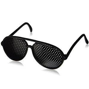 Seiei 防近视 散光 矫正理疗缓解疲劳保护视力 米钉框 针孔小孔眼镜