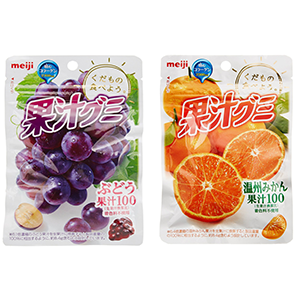 Meiji/明治 果汁软糖51g×10袋 葡萄/香橙 两款可选