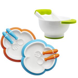 BABYBJORN 宝宝餐盘 2套装+NUK辅食研磨碗*2件