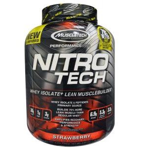Muscletech肌肉科技正氮乳清蛋白粉,草莓口味4磅+凑单品