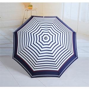 W.P.C 世界派对 三折6骨经典水手条纹款晴雨伞
