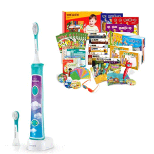 【更新】Hongen 洪恩全能开发套装+飞利浦 HX6322/04儿童声波震动牙刷