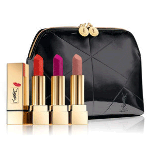 YSL KISS & LOVE方管套装新品上市$74(价值$111)