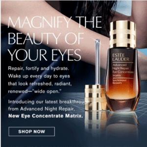Estee Lauder雅诗兰黛美国官网任意单送Matrix新眼部护理小样一个