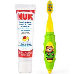 凑单品!NUK 婴幼儿可吞咽牙膏40g+婴儿牙刷