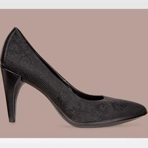 ECCO爱步75 Textured女士真皮高跟单鞋