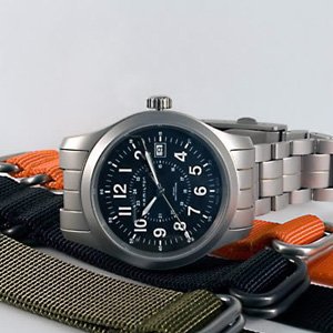 HAMILTON汉米尔顿卡其野战H69519133男士机械手表