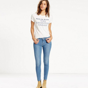 Levi's李维斯 710 FlawlessFX 女士超紧身牛仔裤