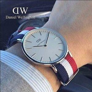 Daniel Wellington丹尼尔惠灵顿 0203DW Classic系列 男士彩带石英腕表