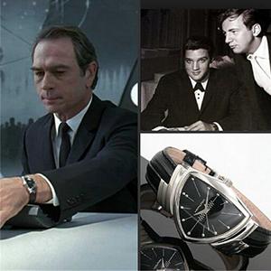 黑衣人同款: HAMILTON汉米尔顿 Ventura 探险系列 H24411732 男士腕表