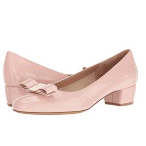 Salvatore Ferragamo Vara 1 女款粉色蝴蝶结低跟鞋