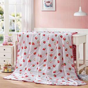 LOVO 草莓派全棉夏被 200*230cm
