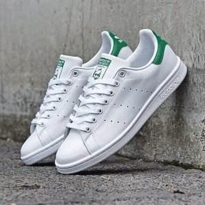 adidas阿迪达斯 Originals Stan Smith 大童款运动鞋 绿尾