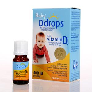 Ddrops婴儿维生素D3滴剂 90滴*5瓶