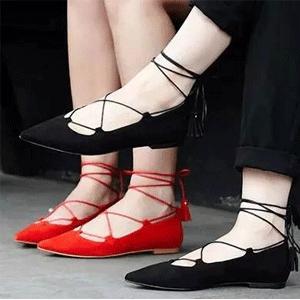 Nine West 玖熙 Zafirah 女士绑带平底鞋