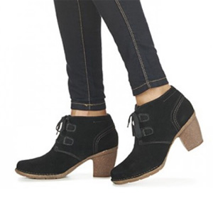 Clarks其乐 Carleta Lyon 女士真皮系带短靴