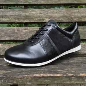ECCO爱步Touch触感女士黑色真皮休闲鞋