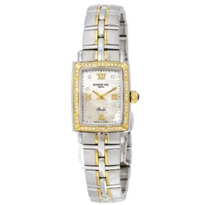 Raymond Weil雷蒙威 Parsifal系列 9740-STS-00995 18k镀金女款钻石手表