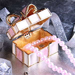 PIEARTH 珠宝盒 礼品盒(粉红缎带) EX310-1