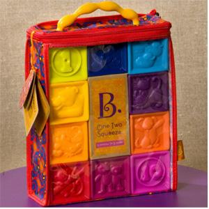 B.Toys 数字浮雕软积木玩具 牙胶*3件