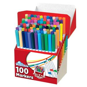 RoseArt 彩色可水洗马克笔 100支装