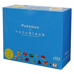 日本Kawada Pokemon Nanoblock 积木 12件套组