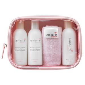 Samourai 法国玫瑰香氛植物洗发护发沐浴旅行4件套