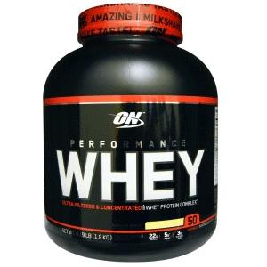 Optimum Nutrition运动乳清蛋白粉,香草奶昔,4.19磅