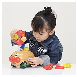 面包超人DIY小车零件组合玩具
