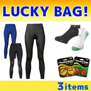 福袋3件套:CW-X EXPERT 女士压缩长裤+运动袜+除臭鞋球