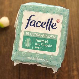 凑单品!facelle菲思乐丝滑超薄日用卫生巾无香防漏护翼3滴16片 230mm