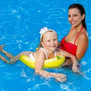 Fred's弗雷德 婴幼儿安全腋下游泳圈(4-8岁) 黄色