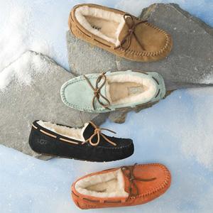 OZWEAR UGG 羊皮毛一体内增高豆豆鞋