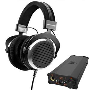 Beyerdynamic拜亚动力DT990头戴式耳机 600欧姆+iFi micro iDSD BL解码耳放一体机