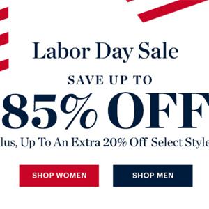 Bluefly官网现有Labor Day劳工节折扣区低至1.5折+额外8折促销