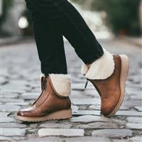 UGG女士真皮拉链雪地靴 2色