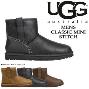 UGG Classic Mini Stitch男士保暖雪地靴