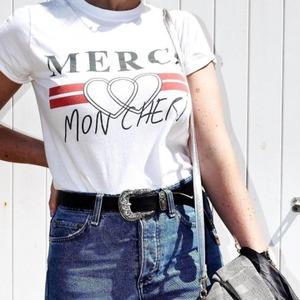 补货!最新TOPSHOP Merci Mon Cheri爆款T恤