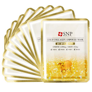 SNP 黄金胶原蛋白补水面膜 10片*4件