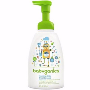Babyganics甘尼克宝贝 婴儿餐具奶瓶发泡清洗剂 473ml*3件