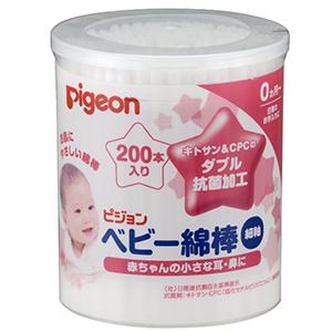Pigeon贝亲 婴儿用抗菌清洁棉棒 200根