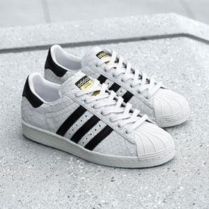 Adidas Superstar 80s 女士金标蛇纹贝壳头