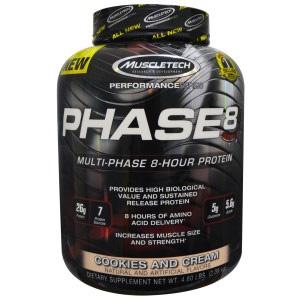 MUSCLETECH肌肉科技 Phase8 高性能缓释蛋白粉 4.6磅
