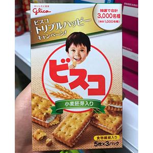 Glico固力果 小麦胚芽乳酸营养夹心饼干 15枚*10盒