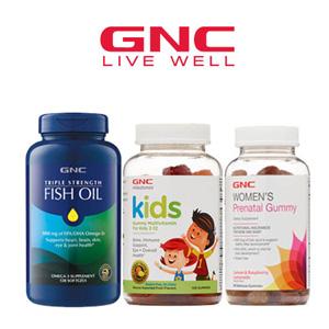 GNC精选保健品低至3折促销