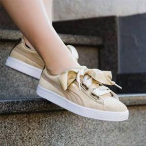 PUMA彪马XCARE合作款 Suede Heart Safari蝴蝶结板鞋