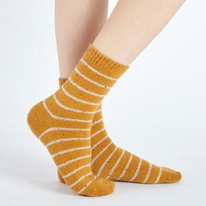 阪织屋 男女款加厚含羊毛中筒袜 3双
