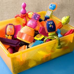 B.Toys布莱斯特鬃毛积木75粒套装带收纳盒