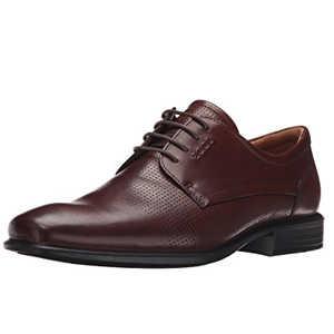 ECCO爱步Cairo Perforation Tie男士正装鞋