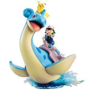新品预售:MegaHouse Pokemon精灵宝可梦 小智&皮卡丘&乘龙 涂装完成版手办